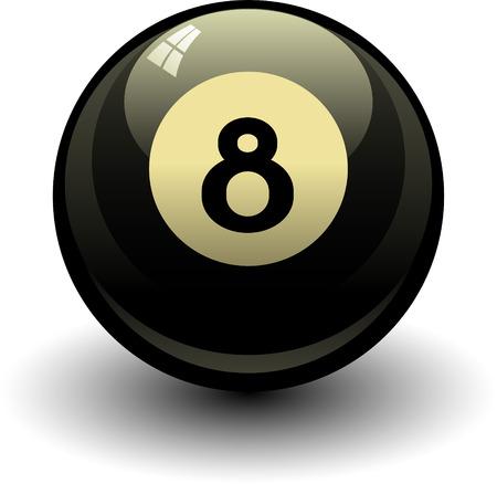 billiards: Eight ball EPS8 Illustration