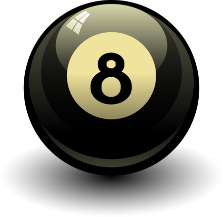 8 ball: Eight ball EPS8 Illustration