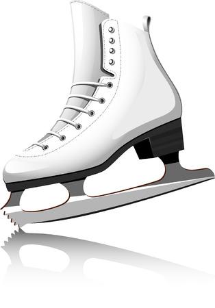 Figure Skating over white.