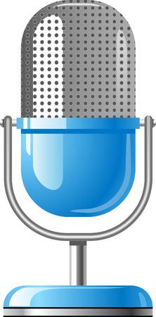 microfono radio:  Micr�fono en blanco Vectores