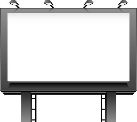 Reclame Billboard geïsoleerde over wit. Vector Illustratie