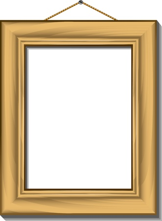 nail art: Isolated Picture Frame. Illustration