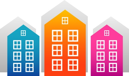 Vector houses isolated on white. EPS 8