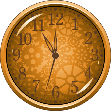 Vector clock isolated over white. EPS 8 Stock Vector - 11306834