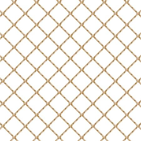 Red de cuerda aislado más de blanco