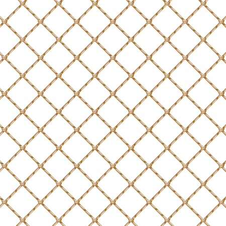 Rope net isolated over white   Vector