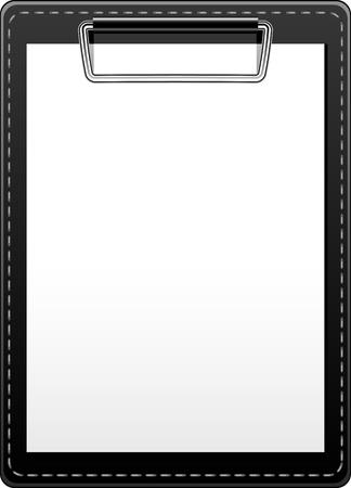 panoya: Clipboard over white. EPS 10 Çizim