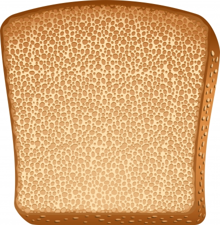 toasted bread: Toast over white. Illustration