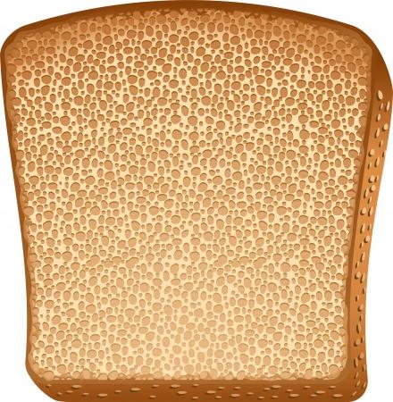 Toast over white. Illustration