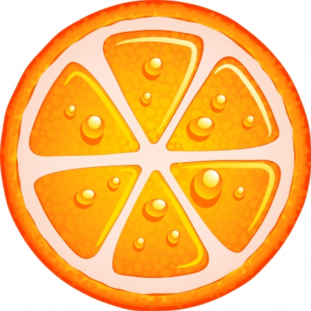 orange slice: Orange fruit over white