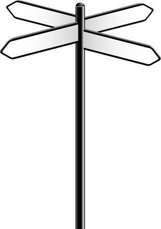 Direction Signs jver white Stock Vector - 14594493