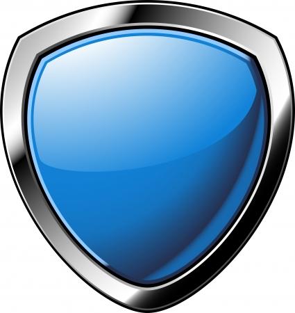 badge: Shield over white