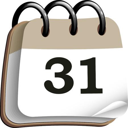 Calendar over white  EPS 10 Stock Vector - 15128258