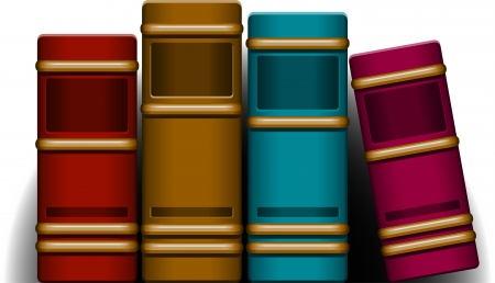 Four Books   Vector