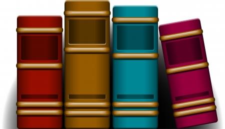 hardcovers: Four Books   Illustration