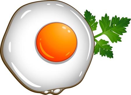 Fried egg over white  EPS 10 Stock Vector - 15563601