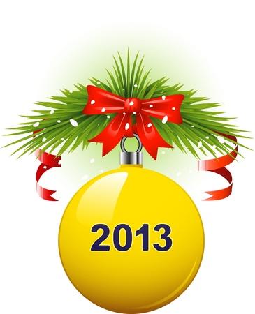 Christmas ball 2013. EPS10 Stock Vector - 15678691