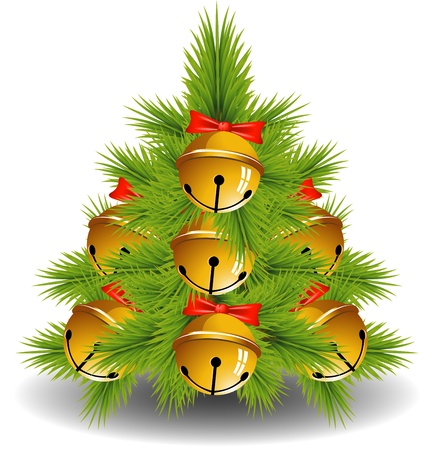Christmas Tree over white, EPS 10 Stock Vector - 15799238