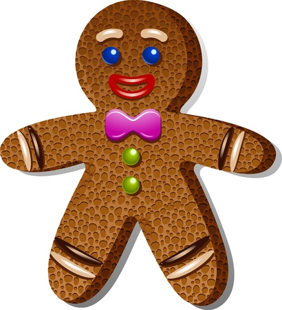 gingerbread: Gingerbread man over white.