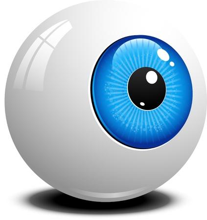 globo ocular: Eyeball sobre blanco