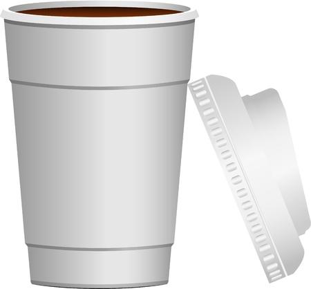 caf� � emporter: Caf� continuer isol� sur blanc EPS 10