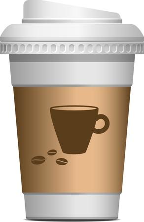 caf� � emporter: Caf� pour aller sur blanc EPS 10