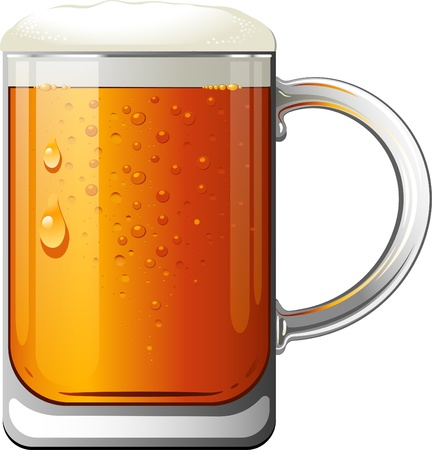 st  patty's: Beer Mug over white