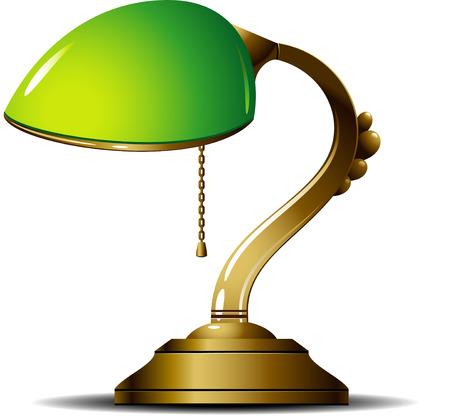 Green desk lamp  Vector illustration  Vector