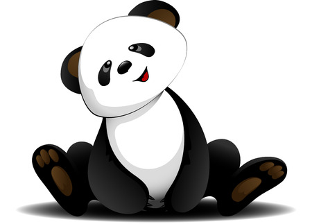 Vector Sitting panda   Vector