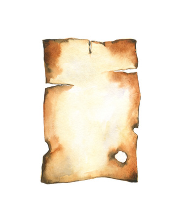 watercolor paper: Old burnt paper. watercolor background