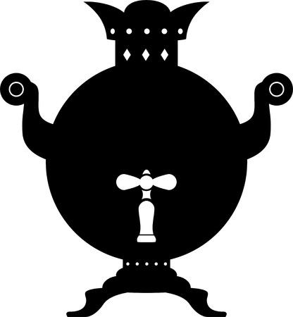 samovar: Samovar. Silhouette on a white background. EPS 10 Illustration