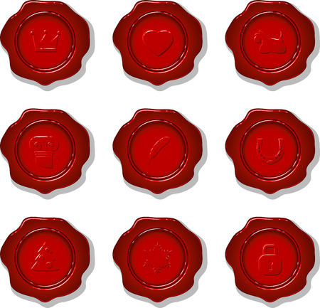 Collection of vector wax seal on a white background. eps 10