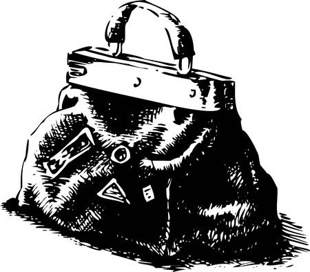 old road: Old road bag. Vector illustration on a white. eps 10