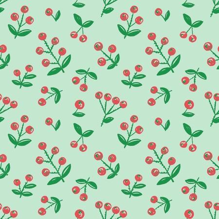 Seamless hand-drawn berry background Stock Photo