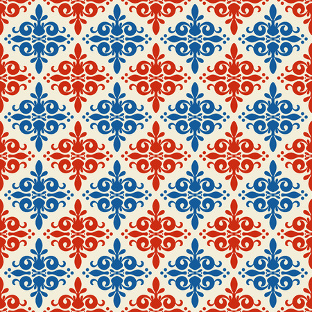 Seamless pattern with allover ethnic ornament
