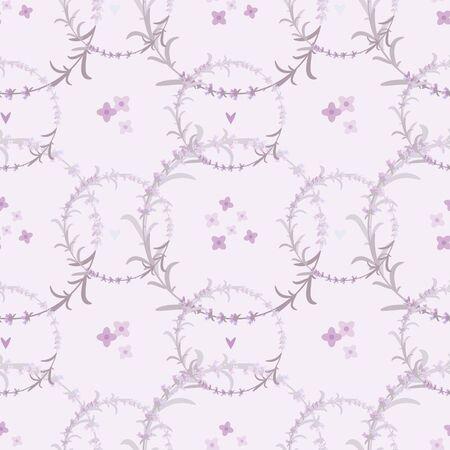 Lavender seamless pattern with an ornament of lavender flowers. Imagens