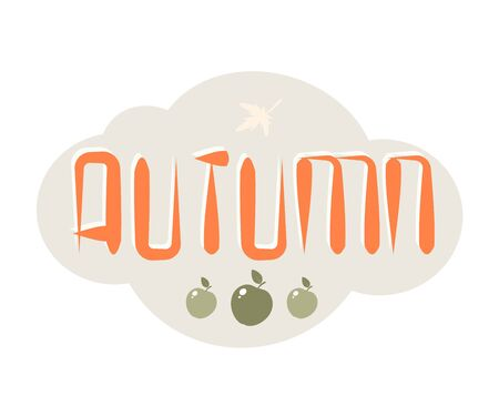 Vector element for design with the inscription Autumn. Eps 10 向量圖像