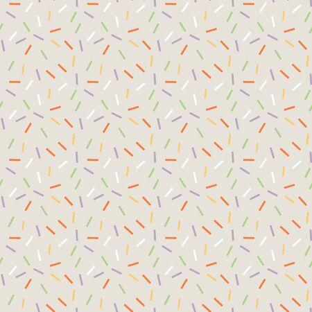 Light gray jpeg seamless pattern with colored confetti.