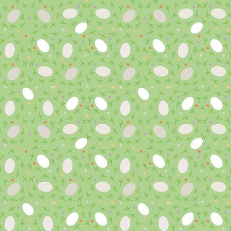 Easter seamless jpeg pattern with bird tracks and eggs. 版權商用圖片