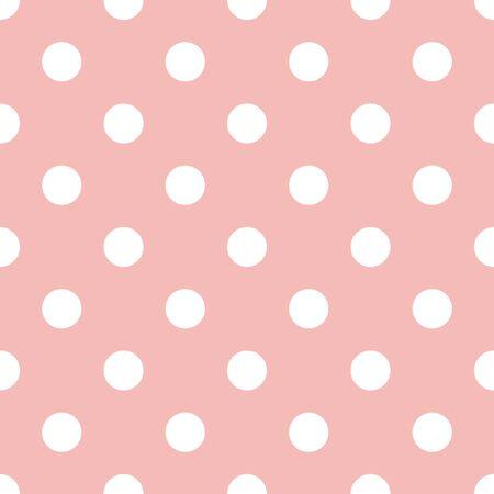 Pink and white polka dot seamless pattern. Only jpeg