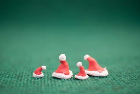 background green: christmas hat on green background