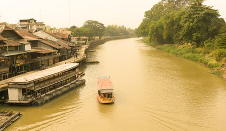 dowdy: Traditional transport by boat in the Suphan at Thailand