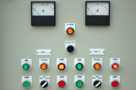 control panel lights: The fire control panel to manage the plant