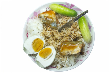 Simple food for Thai people  A paste composed of salted rice Clute that
