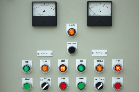 The fire control panel to manage the plant. Stock Photo - 15808754