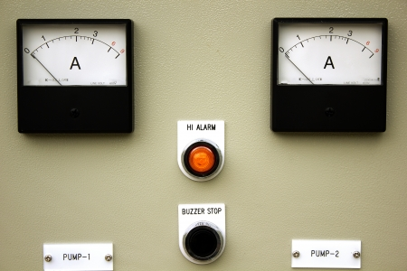 control panel lights: The fire control panel to manage the plant.