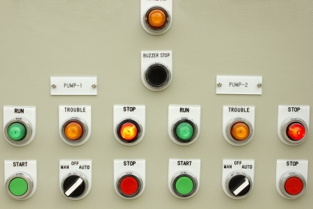 The fire control panel to manage the plant. photo