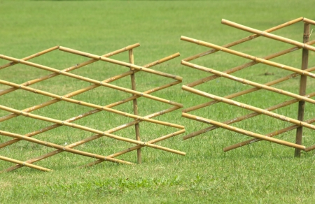 A bamboo fence is a temporary barrier  The solid wood  I know that this is a field of its own Stock Photo - 16795936