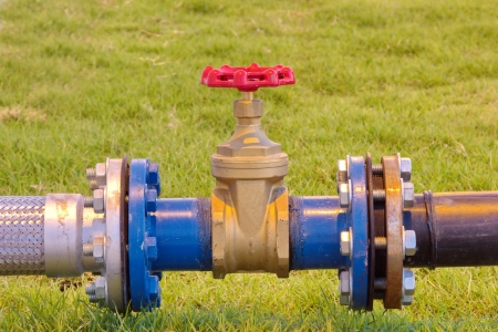 Valves and fittings. A large number of industrial water needs. Stock Photo - 17360263