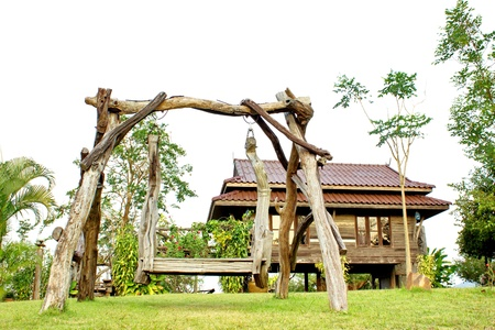 Created and small lodges temporarily  Most are made of wood, Thailand style  Editorial